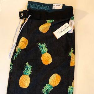 Old navy size 40 pineapple swim trunks NWT